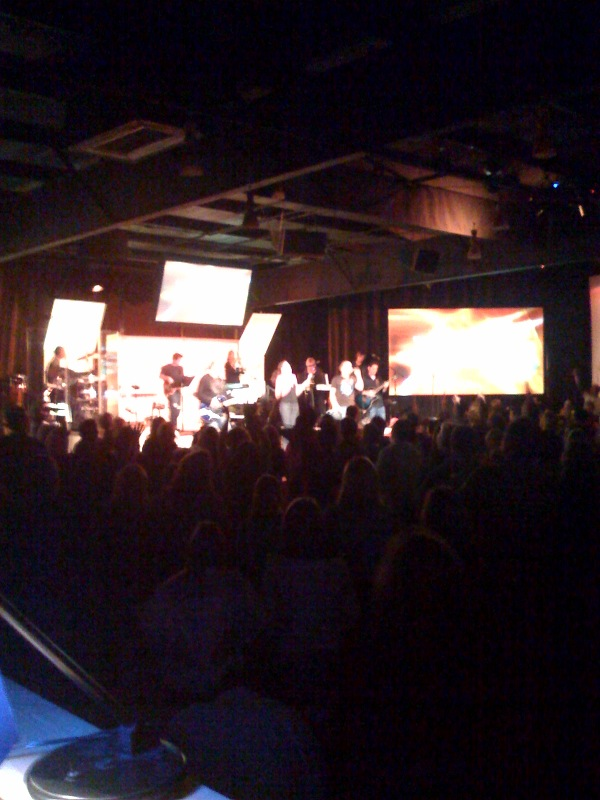 A shot from the booth during Worship Night